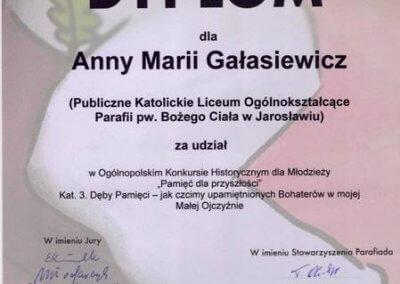 dyplom Anna Gałasiewicz