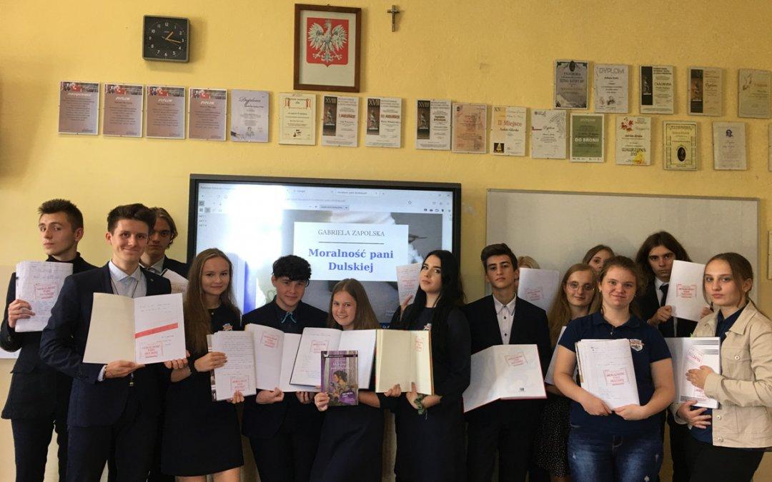 X jubileuszowa odsłona Narodowego Czytania w naszej szkole