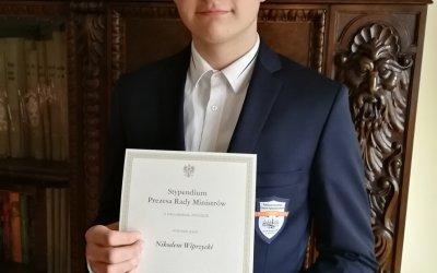 Nikodem Wiprzycki stypendystą Prezesa Rady Ministrów